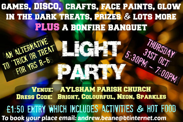 Light Party Thursday 31st October 2013