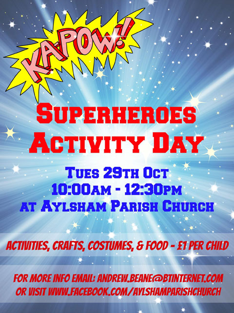 Super Heroes Activity Day 2013