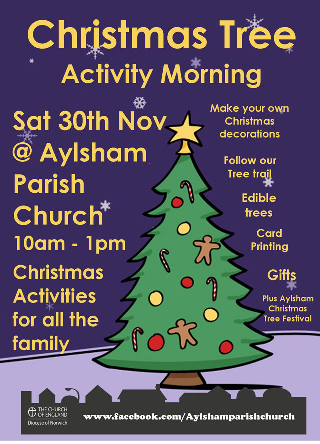 Christmas Tree Activity Morning Saturday 30th November 2013