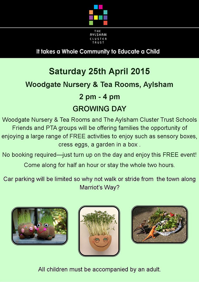 The Aylsham Cluster Trust SPA Growing Day Event - Saturday 25th April