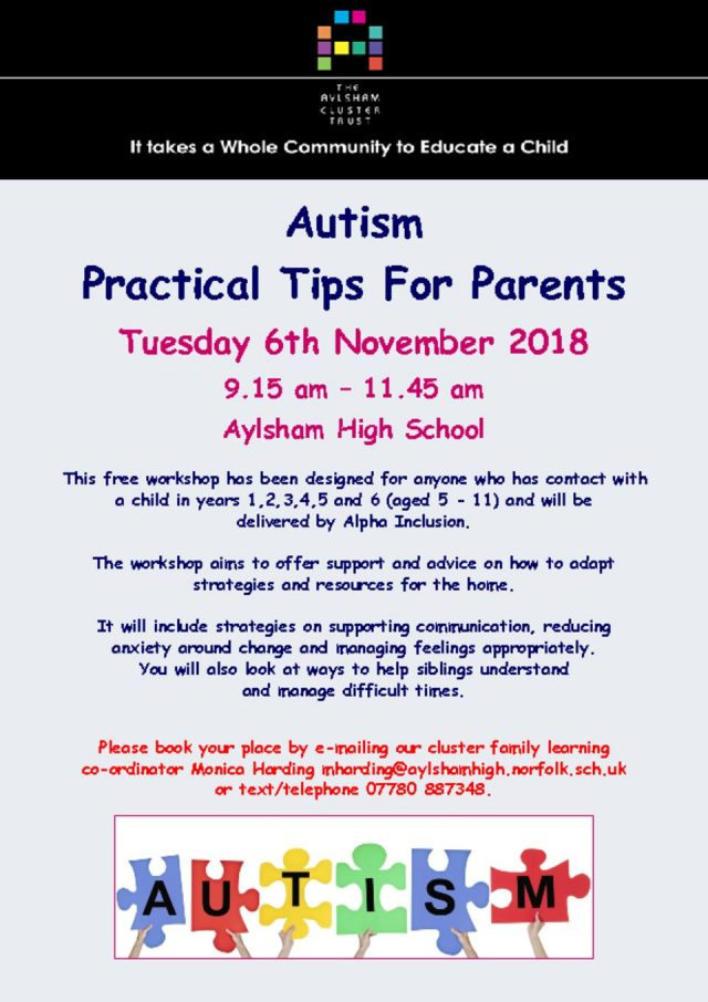thumbnail of Autism – practial tips for parents November 2018