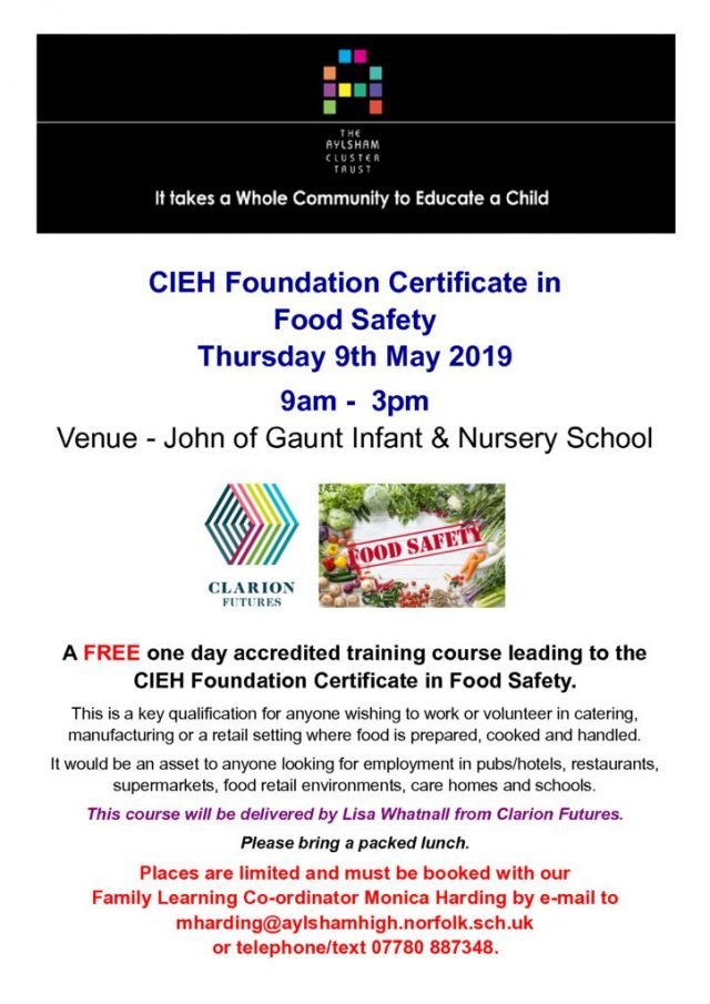 thumbnail of Food Safety Course May 2019