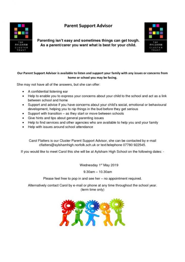 thumbnail of Parent Support Advisor flyer Summer term 2019
