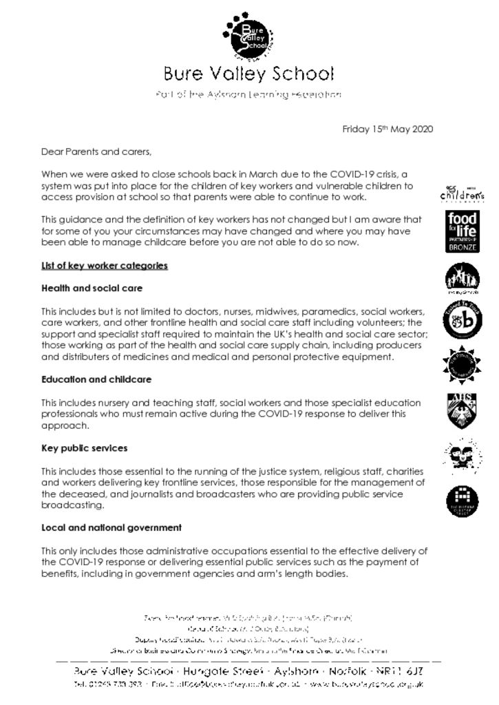 thumbnail of Key Worker Child Care Letter to Parents BVS May 2020